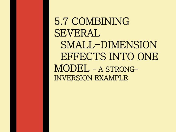5.7 Combining Several