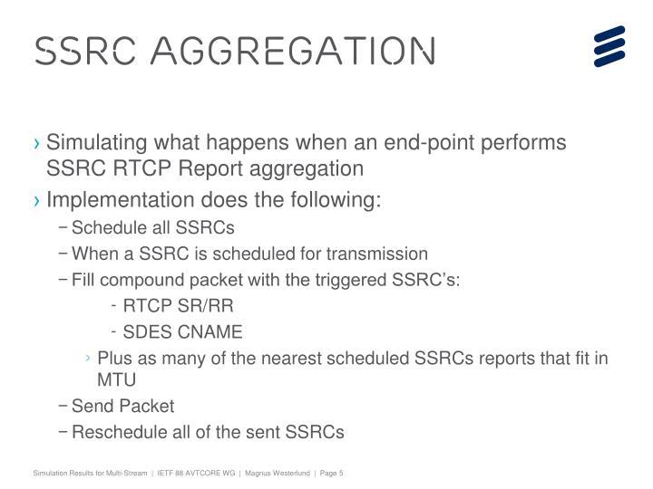 SSRC Aggregation