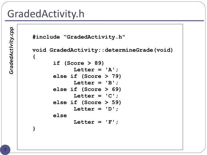 GradedActivity.h