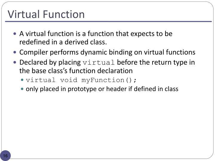 Virtual Function