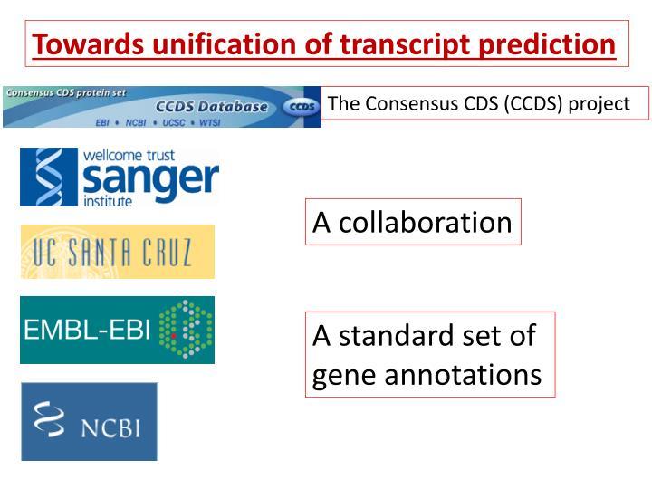 Towards unification of transcript prediction