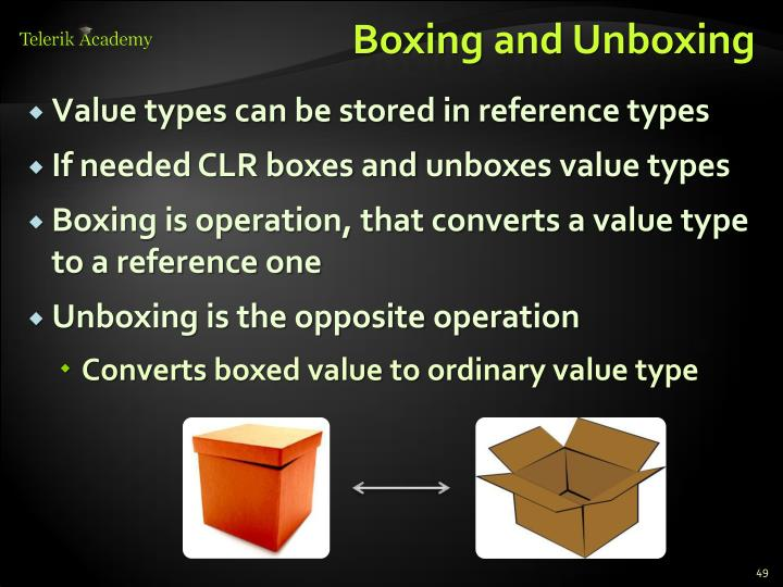 Boxing and Unboxing