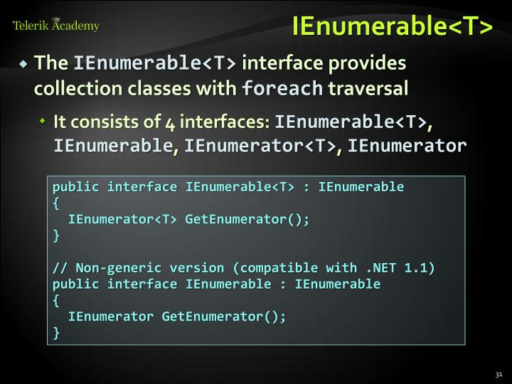 IEnumerable<T>
