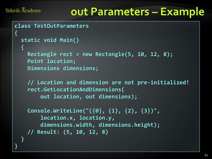out Parameters