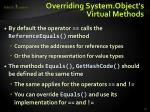 overriding system object s virtual methods