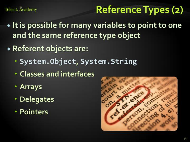 Reference Types (2)