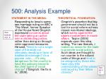 500 analysis example1