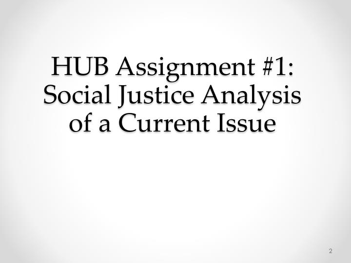 Hub assignment 1 social justice analysis of a current issue