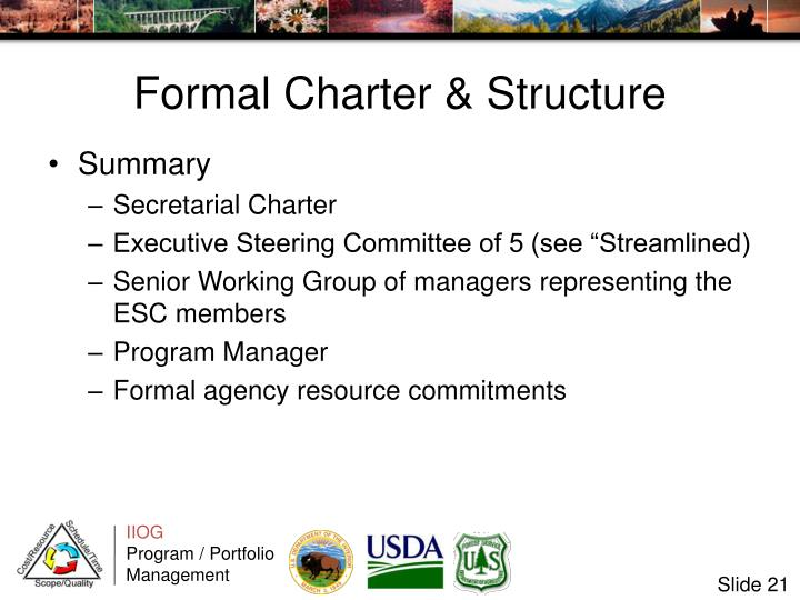 Formal Charter & Structure