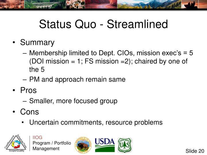 Status Quo - Streamlined