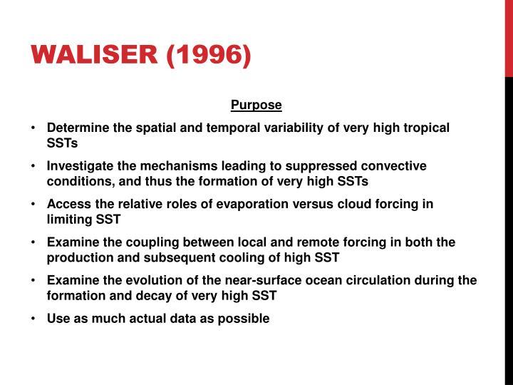 Waliser (1996)