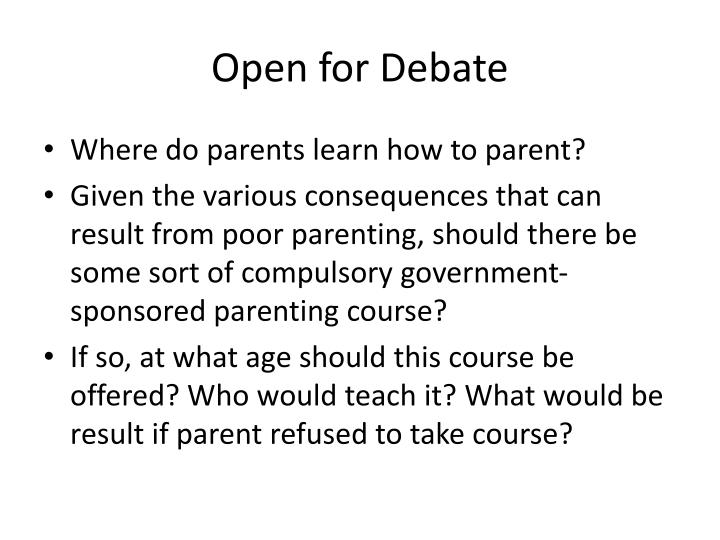 Open for Debate