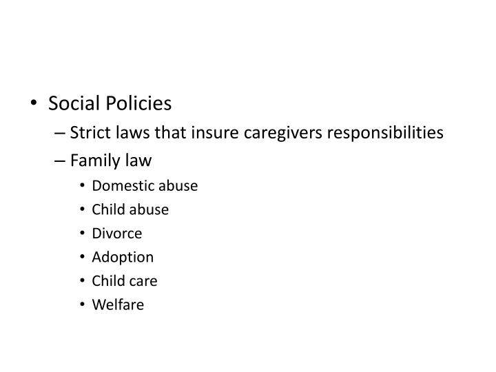 Social Policies