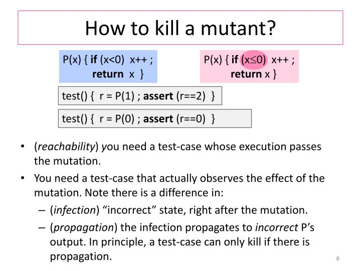 How to kill a mutant?