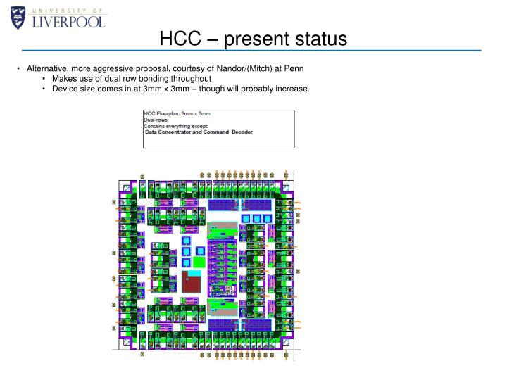 HCC – present status