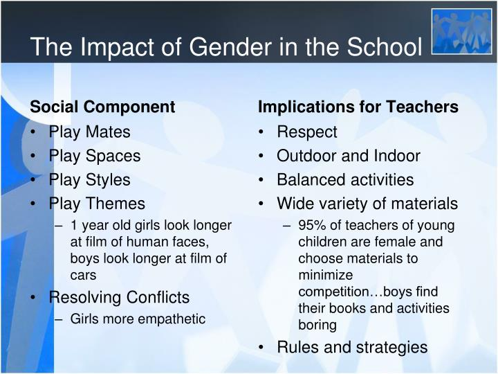 The Impact of Gender in the School