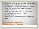 temperate rainforest geography climate