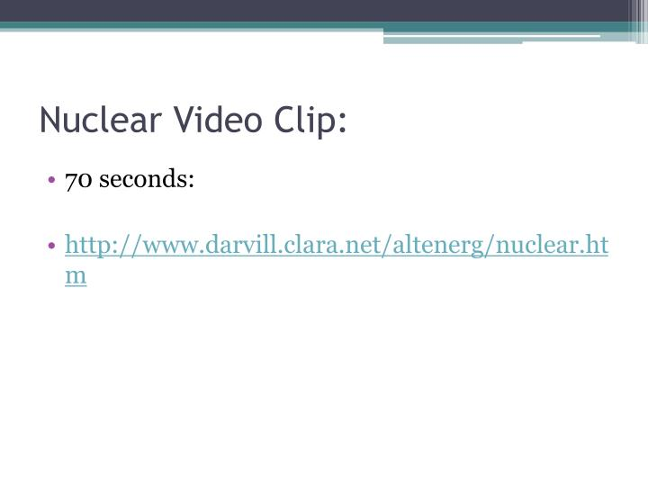 Nuclear Video Clip: