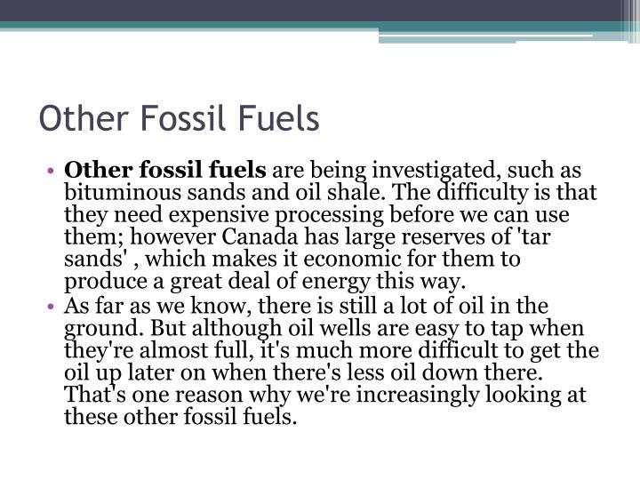 Other Fossil Fuels