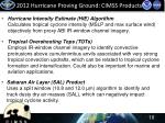 2012 hurricane proving ground cimss products