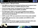 6 hpc opc sab demonstrations
