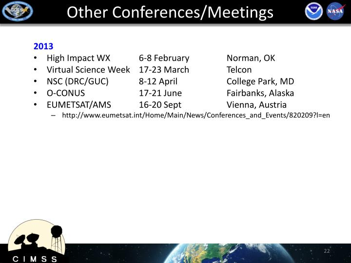 Other Conferences/Meetings