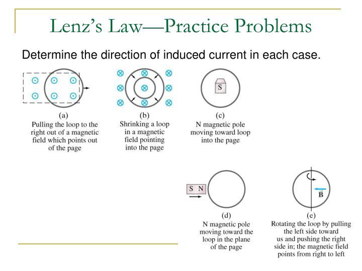 Lenz's Law—Practice Problems