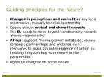 guiding principles for the future