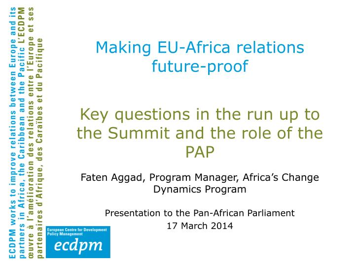 Making eu africa relations future proof
