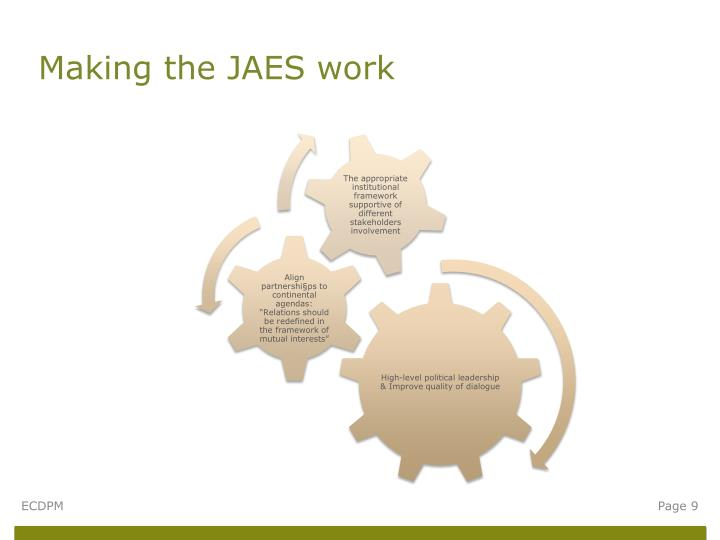 Making the JAES work