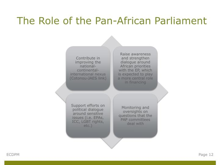 The Role of the Pan-African Parliament