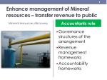enhance management of mineral resources transfer revenue to public