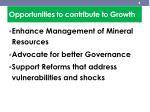 opportunities to contribute to growth1