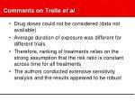 comments on trelle et al