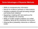 some advantages of bayesian methods