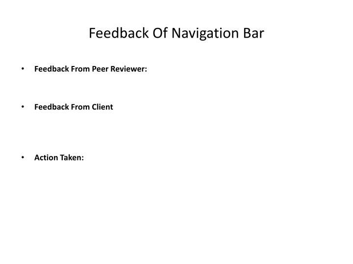 Feedback Of Navigation Bar