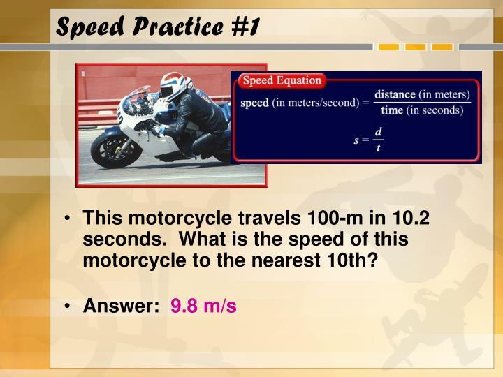 Speed Practice #1