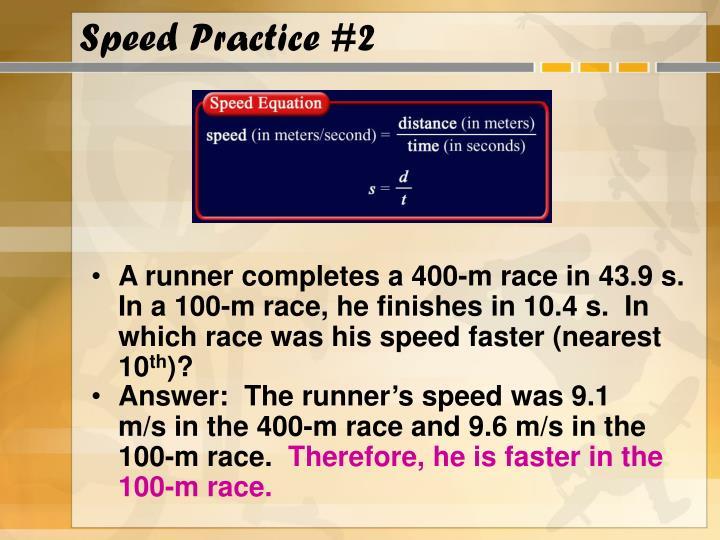 Speed Practice #2