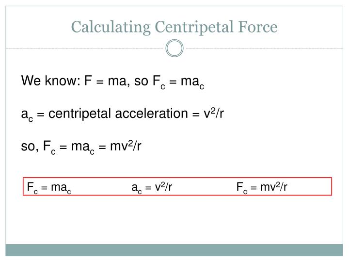 Calculating Centripetal Force