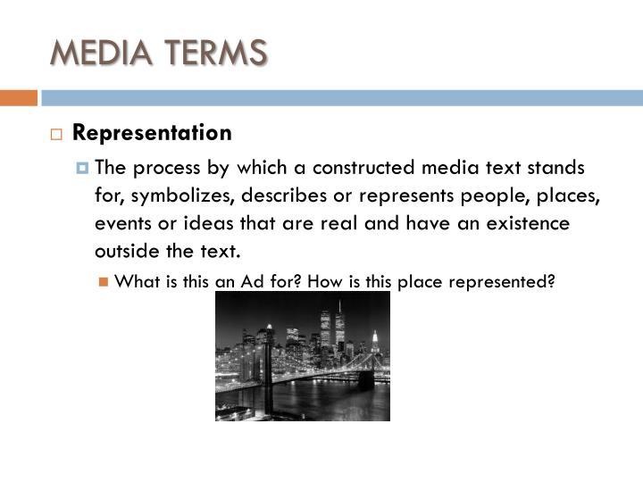 MEDIA TERMS