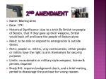 2 nd amendment