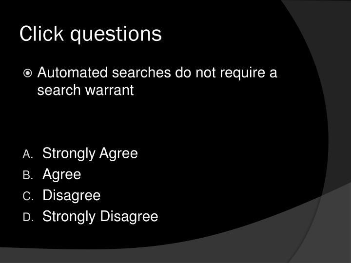Click questions