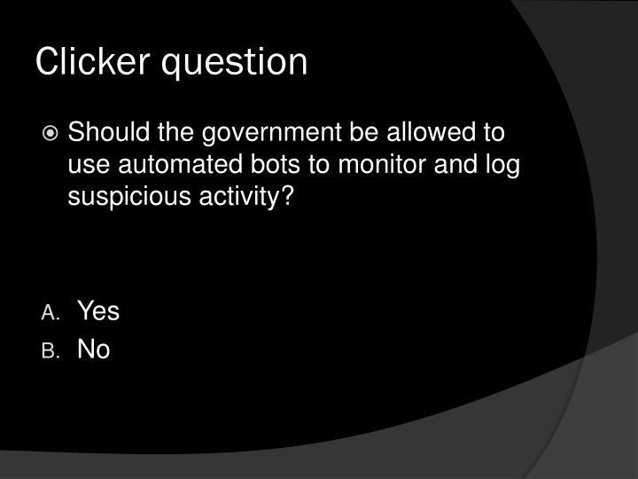 Clicker question