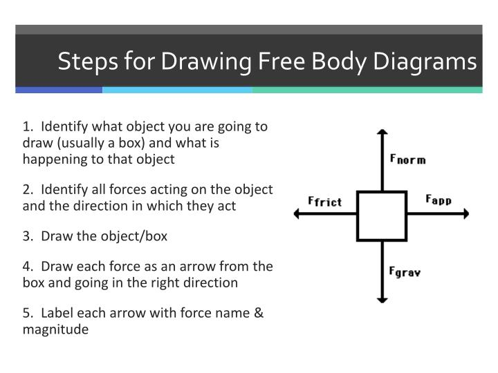 Steps for Drawing Free Body Diagrams