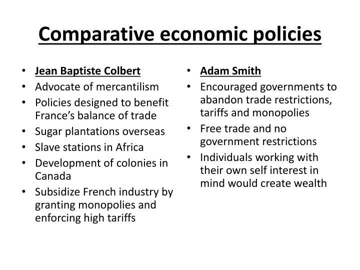 Comparative economic policies