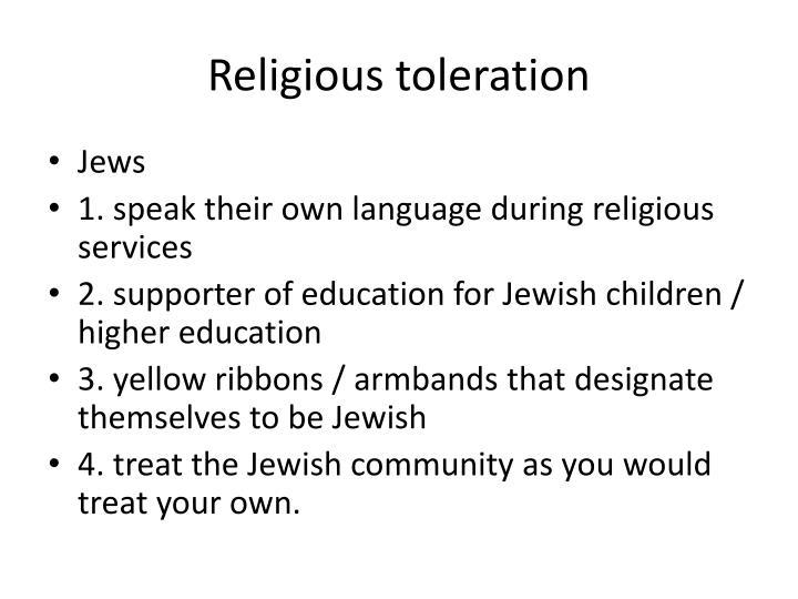 Religious toleration