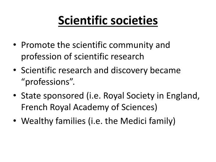 Scientific societies