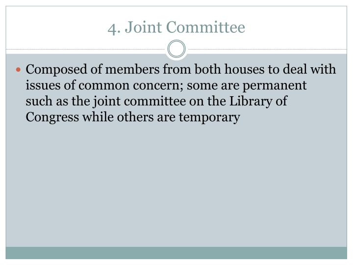 4. Joint Committee