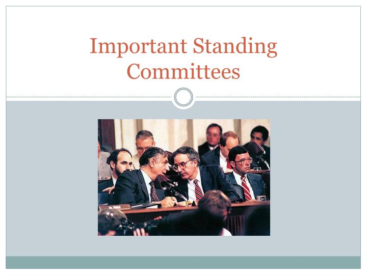 Important Standing Committees