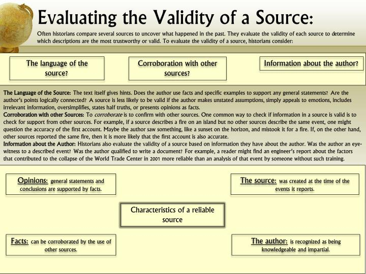 Evaluating the Validity of a Source: